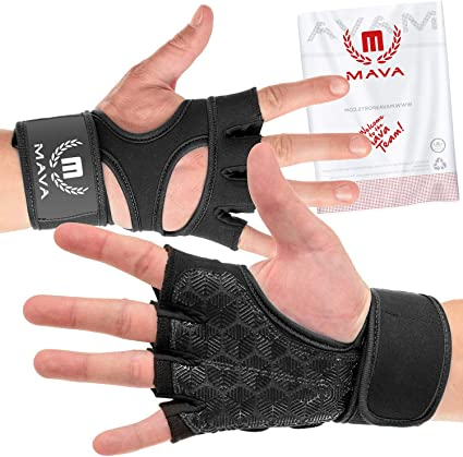Mava Sports Training Workout Gloves with Wrist Support Strong Grip Medium Pink