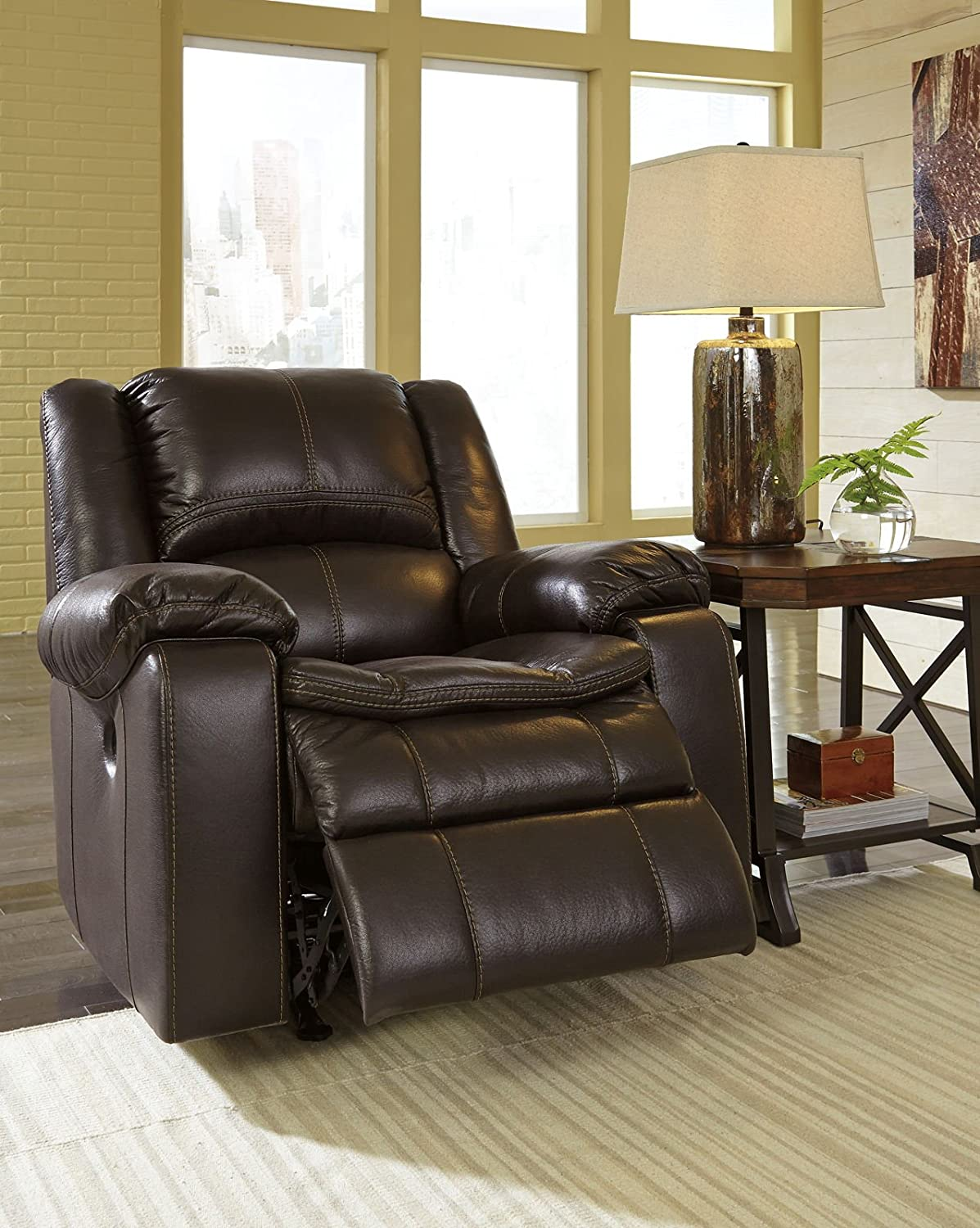 Signature Design by Ashley 8890598 Long Knight Collection Power Recliner - Brown
