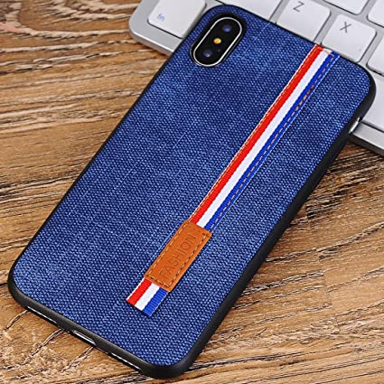 promo code 10d81 b6e42 Amazon.com: Covers for iPhone X,Denim Texture Protective Back Cover ...