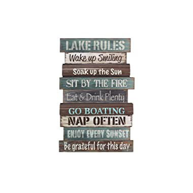 Young's Wood Lake Rule Wall Sign, 23.5