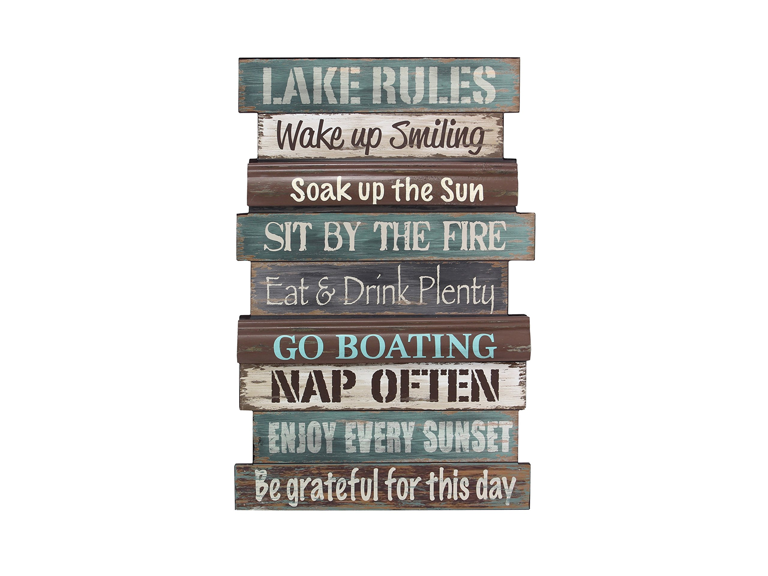 Young's Wood Lake Rule Wall Sign, 23.5''