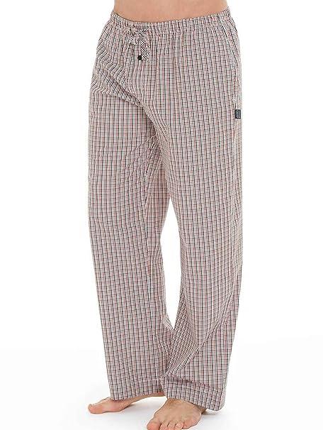 Dormir Traje pantalón largo de jockey/hasta talla 6 x l y 2 x l Long – Cuadros