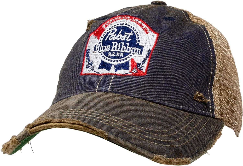Mens Womens Baseball Hats Cap Trucker Cap Pabst-Blue-Ribbon-Beer-Sign Sports Adjustable Dad Hats Sandwich Caps