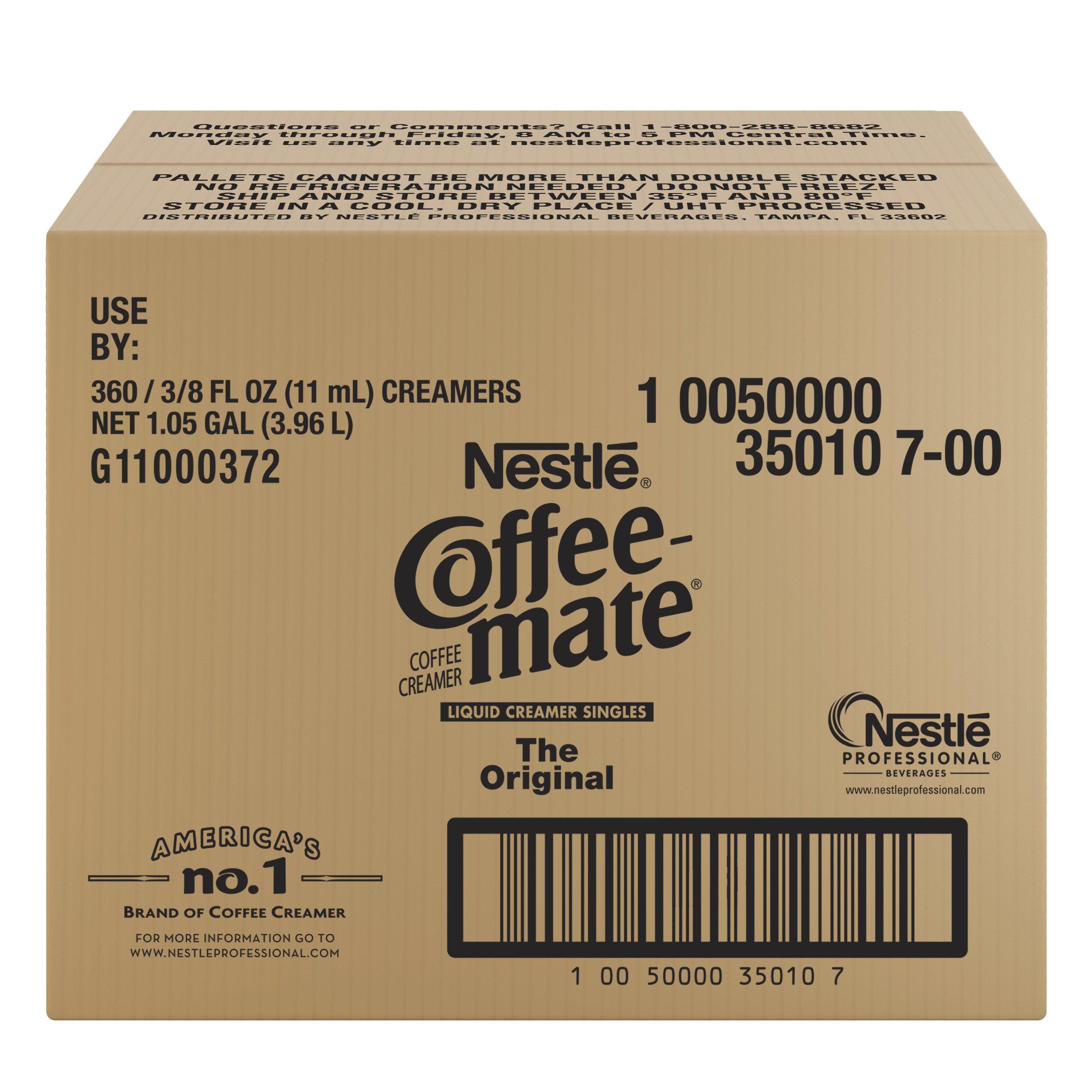 NESTLE COFFEE-MATE Coffee Creamer, Original, liquid creamer singles, 360 Count (Pack of 1) by Nestle Coffee Mate (Image #3)