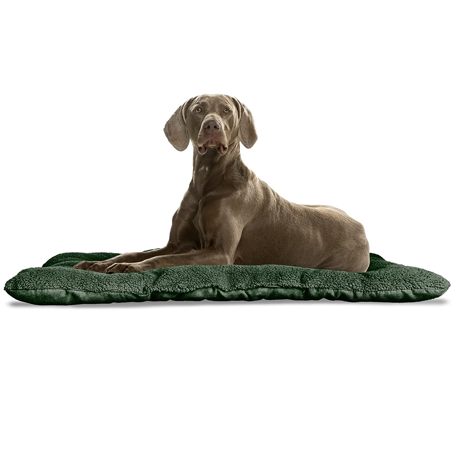FurHaven Pet Kennel Pad   Reversible Terry and Suede Pet Tufted Pillow Dog Bed for Crates & Kennels, Forest, X-Large