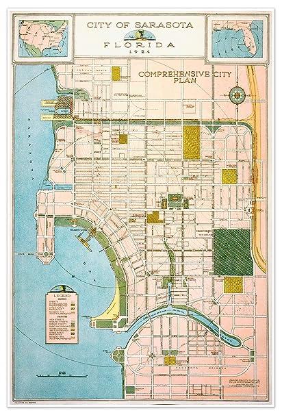 Map Sarasota Florida.Amazon Com Sarasota Florida General Plan City Map Circa 1924
