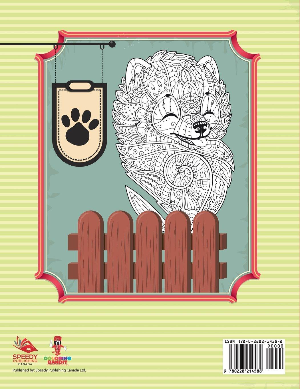 Amazoncom Un Cucciolo Un Giorno Libro Da Colorare Adulto Sforzo