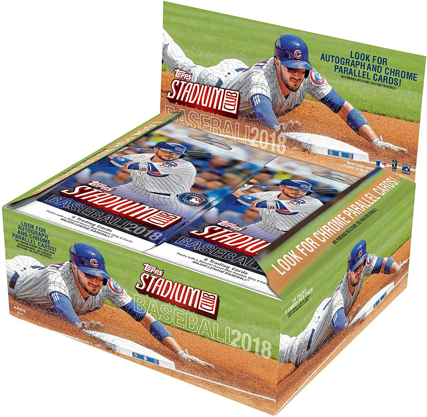 Fanatics Authentic Certified Sports Memorabilia 2018 Topps Stadium Club Factory Sealed 24 Pack Box Baseball Complete Sets