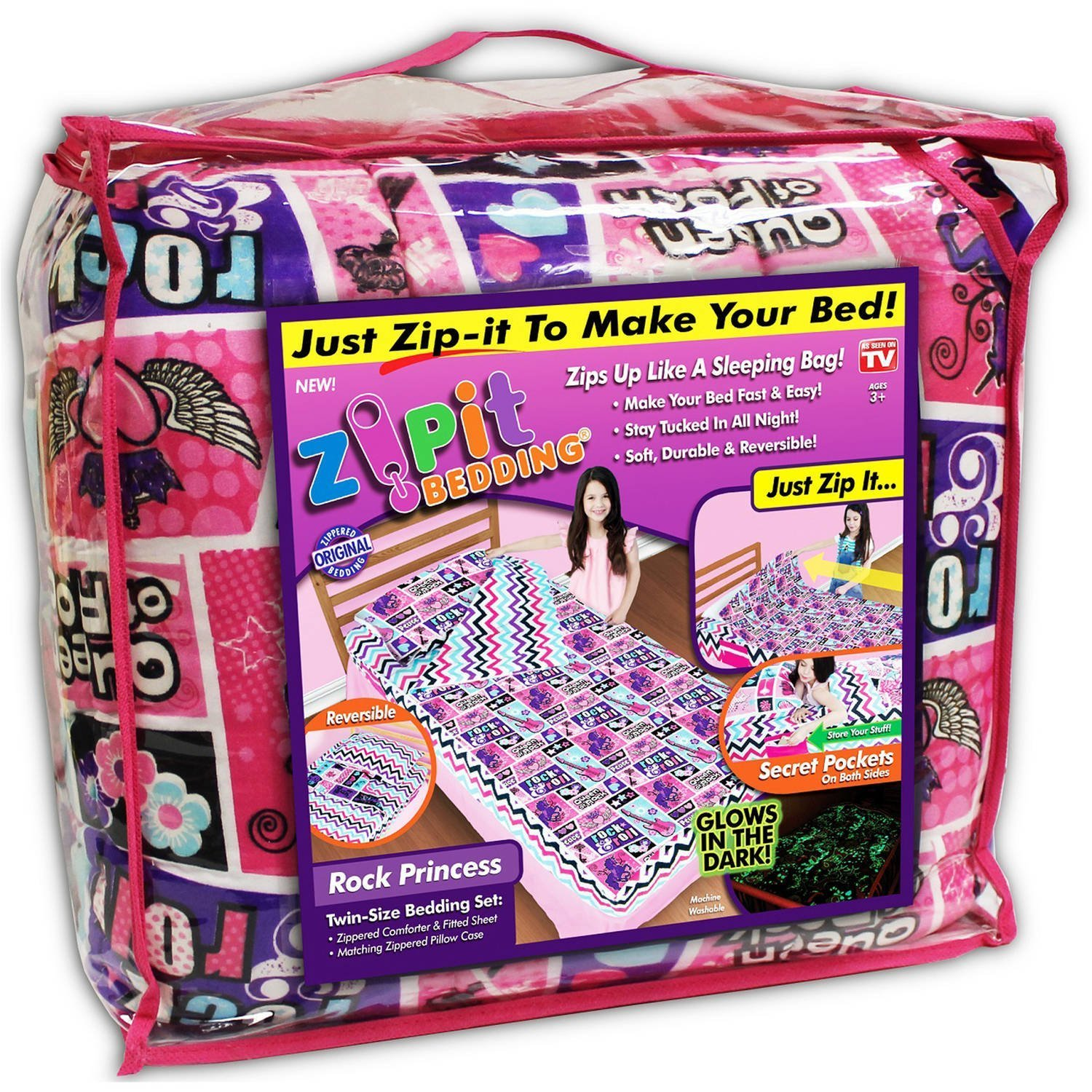 Zipit Bedding COMIN18JU009059 Rocking Princess