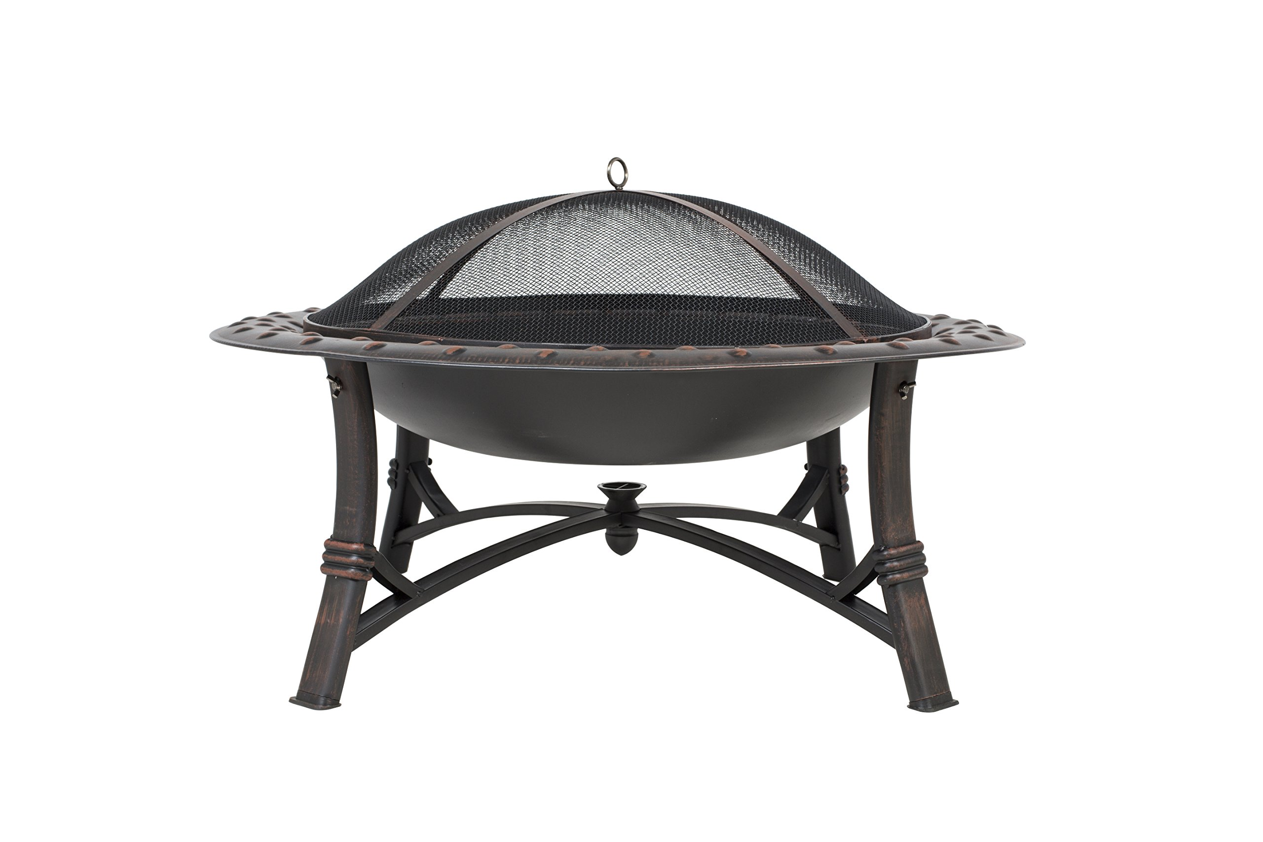 La Hacienda 58188US Alabama Fire Pit, X-Large, Bronze