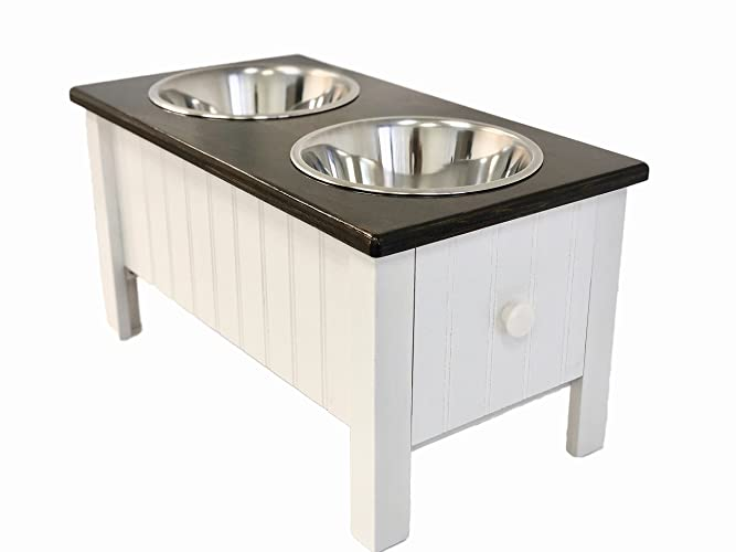 Exceptionnel Raised Dog Feeder With Storage