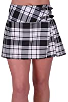 EyeCatch - Kyla Ladies Tartan Buckle Womens Billie Kilt Mini Skirt