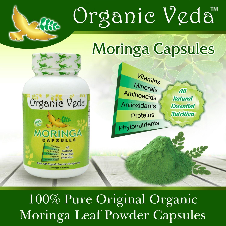 Kết quả hình ảnh cho Organic Veda USDA Certified Organic Moringa Leaf Powder