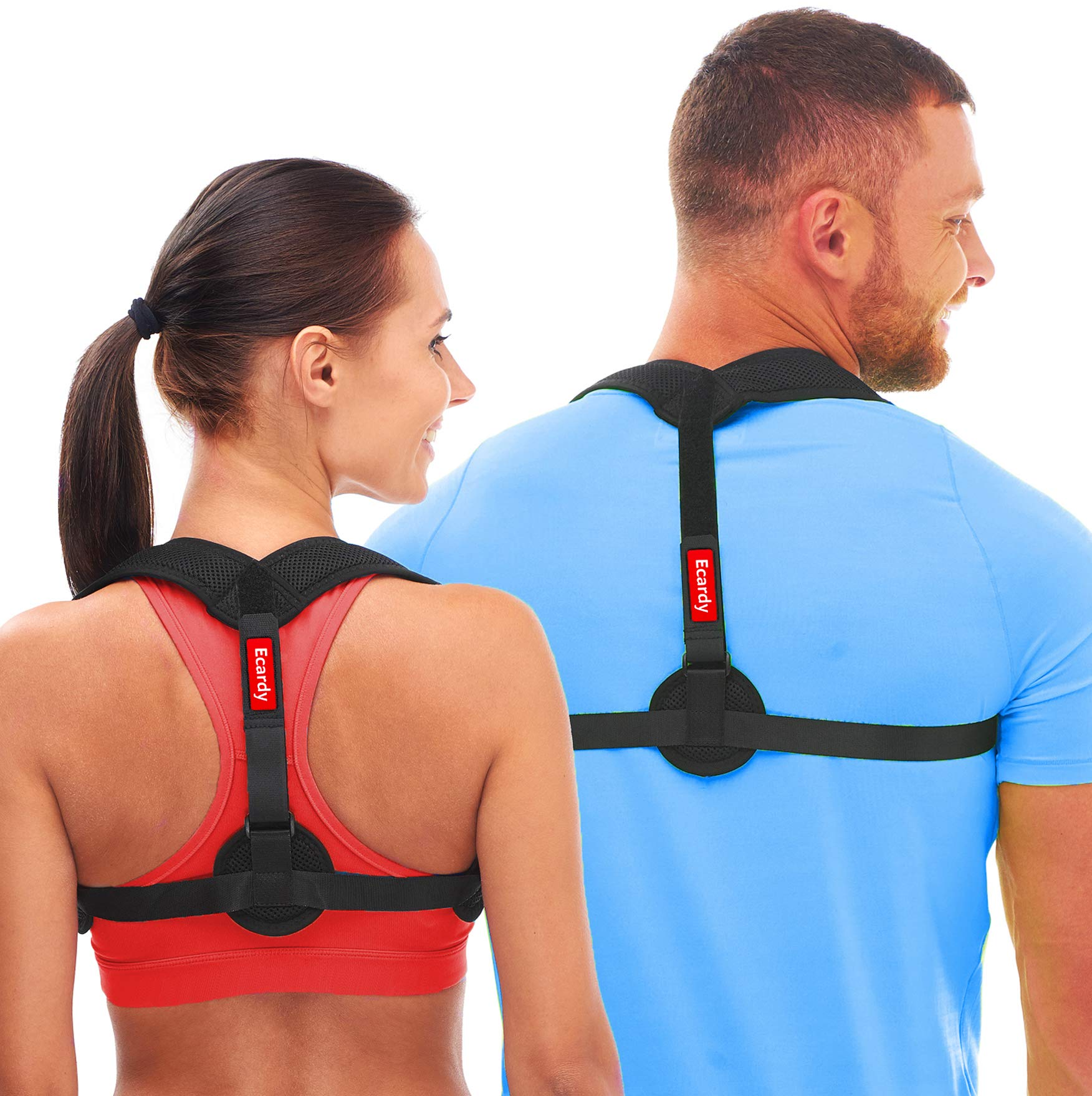 Ecardy Back Posture Corrector for Women & Men - Effective and Comfortable Posture Brace for Slouching & Hunching - Discreet Design – Posture Chest Supports