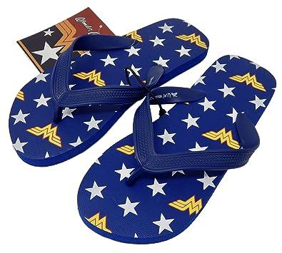 783858bcad71f DC Comics Wonder Woman Unisex Flip Flops: Amazon.co.uk: Shoes & Bags
