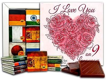 Amazon Com Da Chocolate Valentine Gift Set I Love You On 9