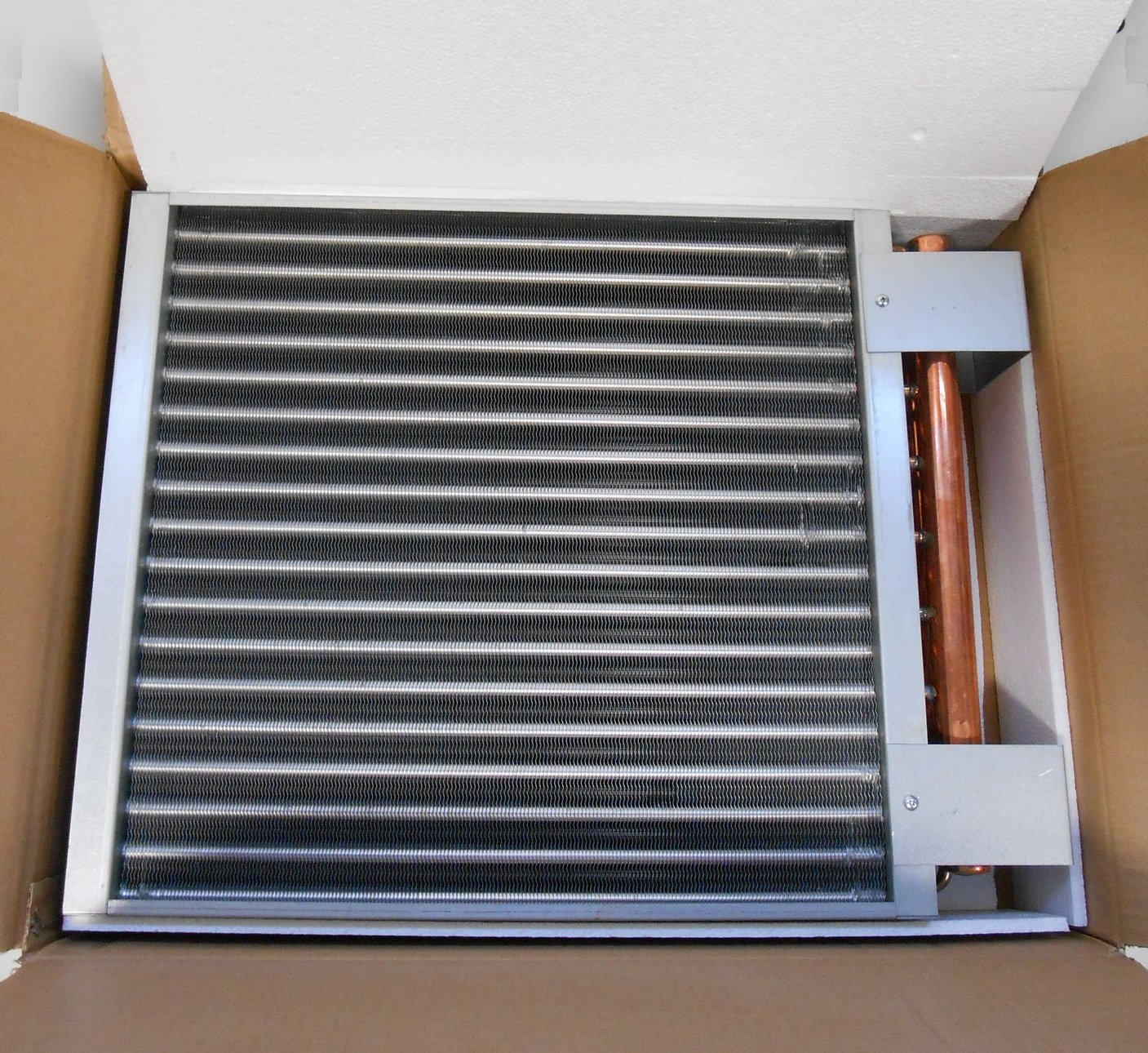 20x20 Water to Air Heat Exchanger Hot Water Coil Outdoor Wood ...