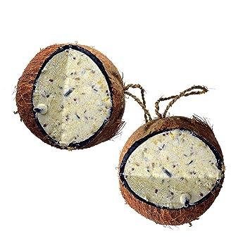 Lyra Pet/® 3 x 4 St/ück ganze Kokosnuss V-Cut gef/üllt Vogelfutter Meisenfutter Winter
