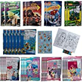 Tri-Coastal (30 Pack) Grab & Go Play Packs Set Cartoon Stickers for Kids Coloring Books Crayons Party Favors Bulk for…