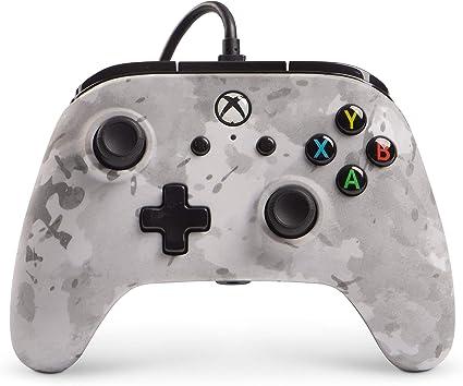 PowerA - Mando con cable mejorado Winter Camo (Xbox One): Amazon.es: Informática