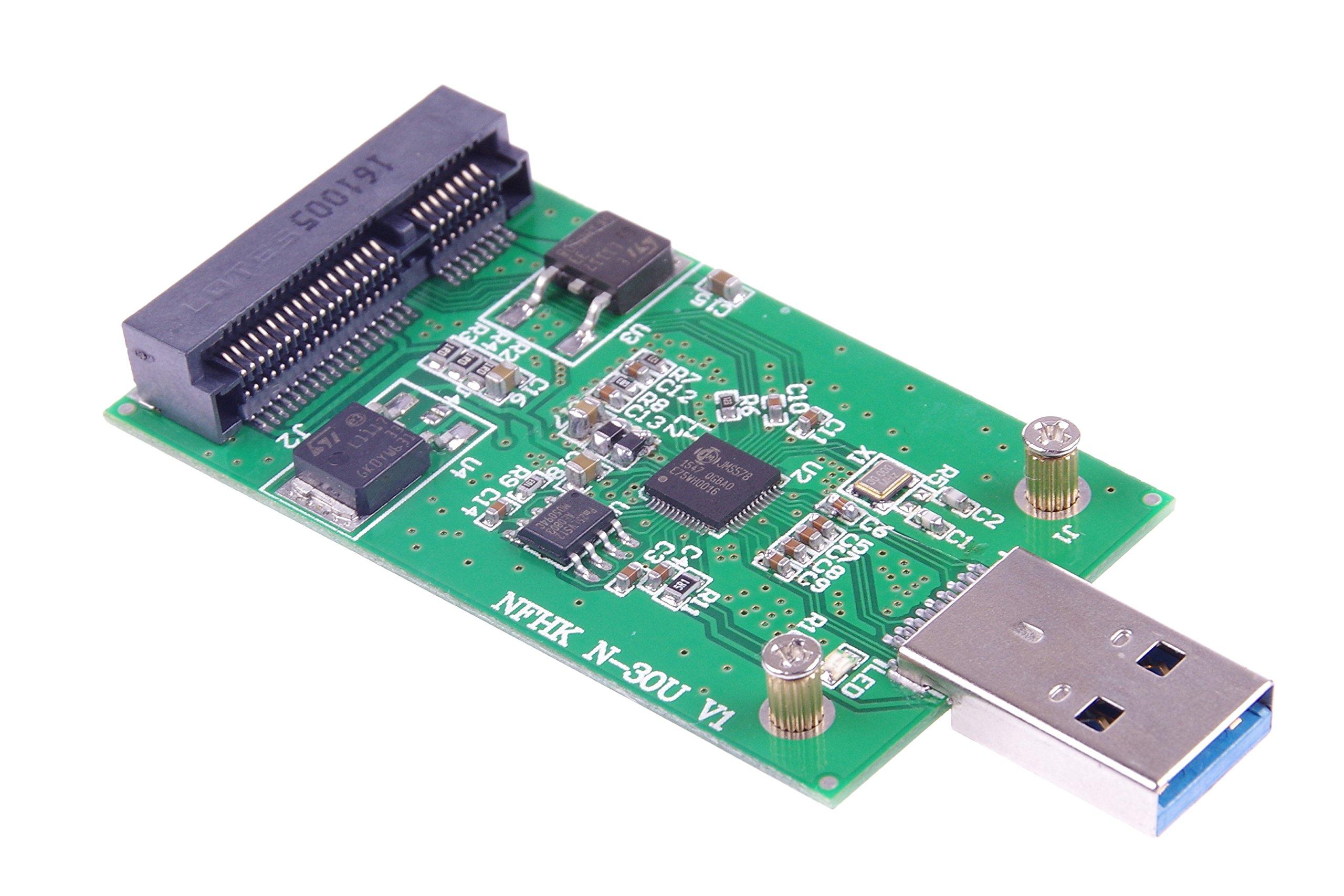 KNACRO USB 3.0 mSATA SSD Adapter as USB Disk Driver don't need USB cable USB 3.0 to mSATA SSD adapter card