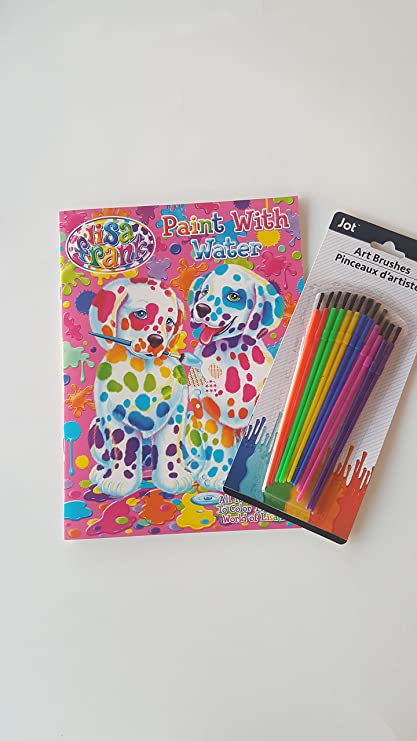 Amazon.com: Paint With Water coloring Book and Art Brush Set: Toys ...