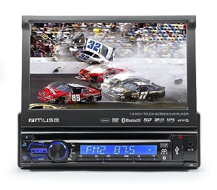 Muse M-728 DR Negro 160W Bluetooth receptor multimedia para coche - Radio para coche