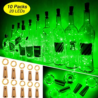 Luces Para Botellas, Ariceleo 10 Piezas 2 Metros 20 LED Cobre ...