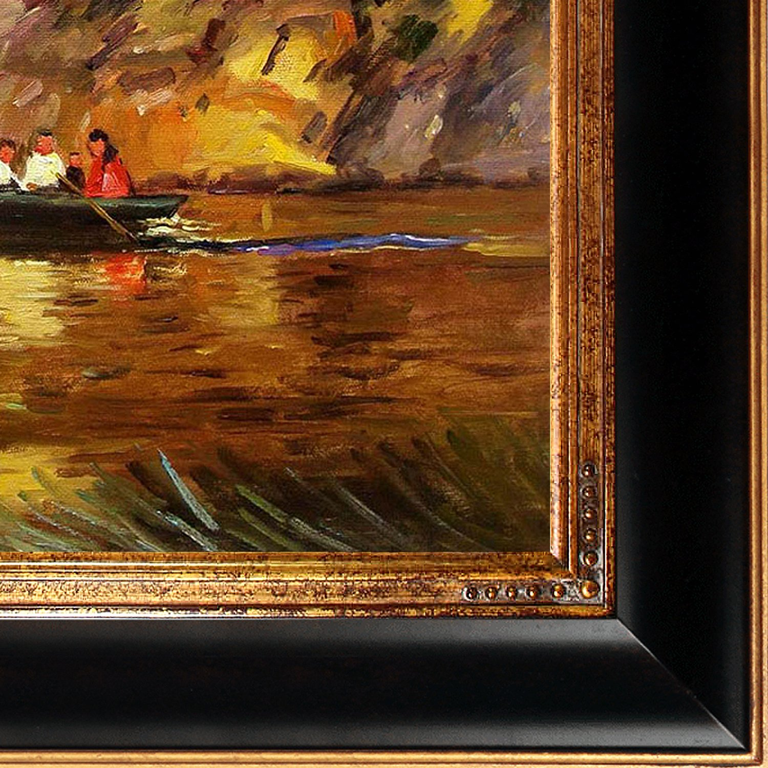 overstockArt Boating in Central Park Framed Oil Reproduction of an Original Painting by Edward Henry Potthast