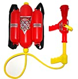 4E's Novelty Firefighter Backpack Water Gun Blaster - Double Tank with Hose, Large Super Water Squirt (Doesn't Leak…