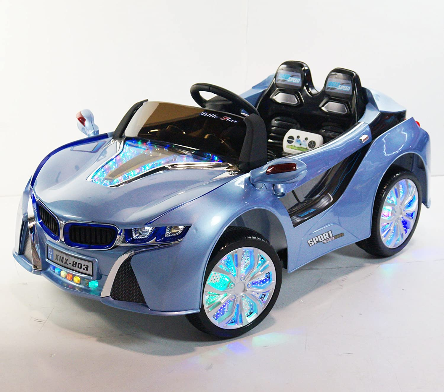 Bmw I8 12v Electric Ride On With Remote Control: BMW I8 Style XMX803 Blue 12V With Remote Control Ride-on