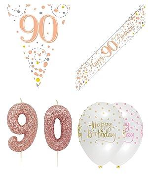 Kit de decoración para fiesta de 90º cumpleaños, banderín de ...