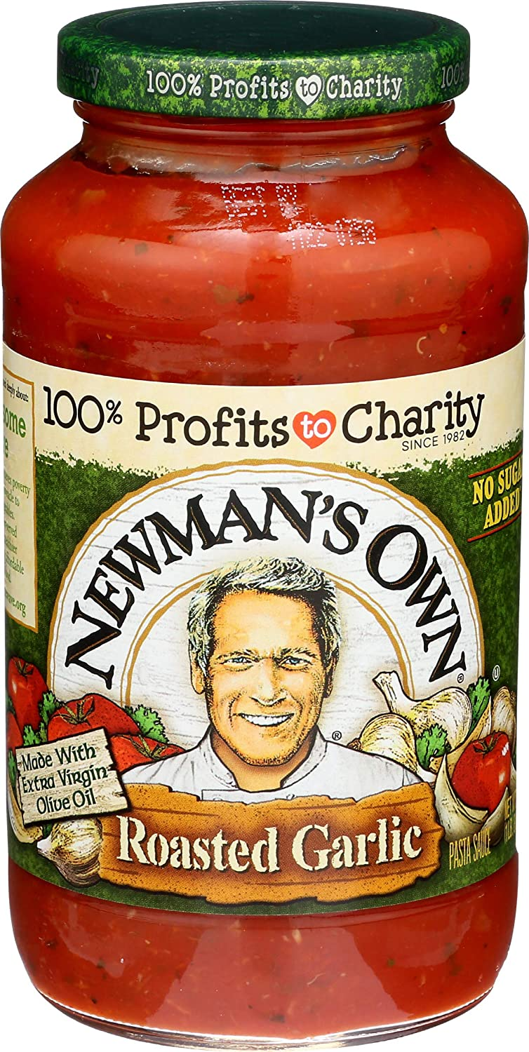 Newmans Own, Sauce Pasta Tomato Roasted Garlic, 24 Ounce