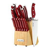 Deals on McCook MC24 14 Pieces Stainless Steel kitchen knife set