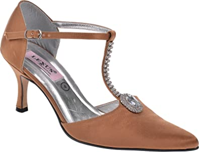 d3ea3f784ce Ladies Lexus Medium Heel Sandal with Diamante Design  Amazon.co.uk ...