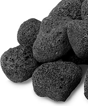 Amazon Com Gaspro 10 Pound Lava Rocks 3 5 Inch Large Lava Rock For Fire Pit Gas Fireplace Propane Or Natural Gas All Natural Garden Outdoor