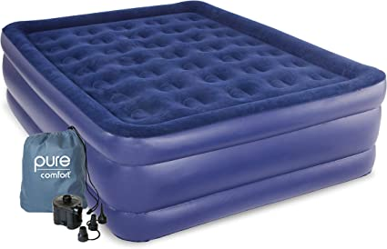 Amazon Com Pure Comfort Queen Size Raised Air Mattress Sports