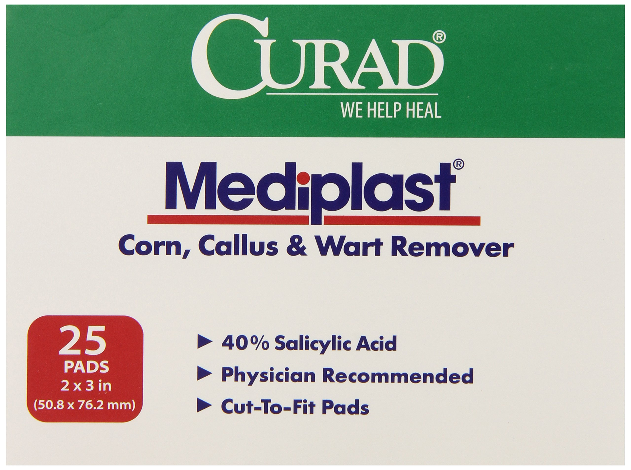 Medline Pad Mediplast Wart Curad 2 Inch x 3 Inch, 150 Count by Medline