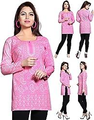 Women Fashion Printed Short Indian Kurti Tunic Kurta Top Shirt Dress 123A