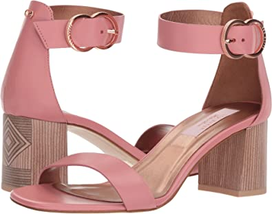 c033349f3015b Amazon.com: Ted Baker Women's Qarvaa Pink Leather 7.5 M US: Shoes