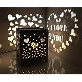 Gifttoys HDF Light emitting I Love You Souvenir (White, 120 mm X 120 mm X 120mm)