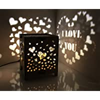 Gifttoys HDF Light emitting I Love You Souvenir (White, 120 mm X 120 mm X 120mm)