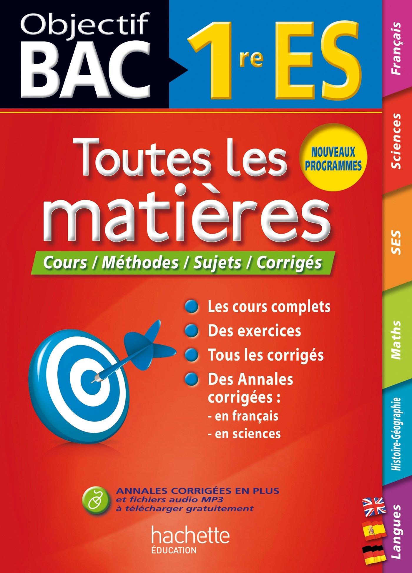Toutes les matière 1re ES (French) Paperback – July 16, 2014
