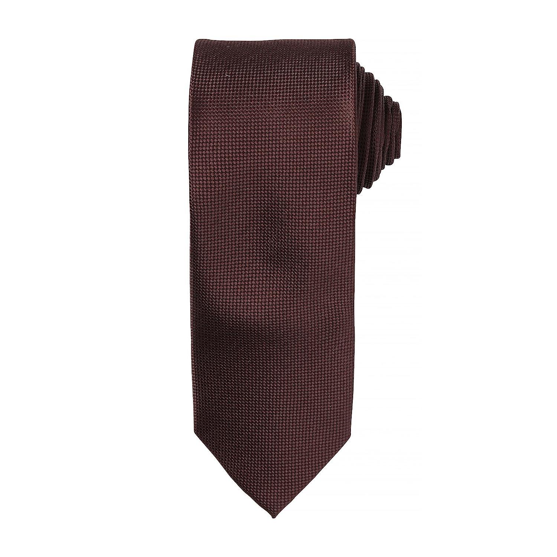 Premier Mens Micro Waffle Tie Full Length Corporate Uniform ...
