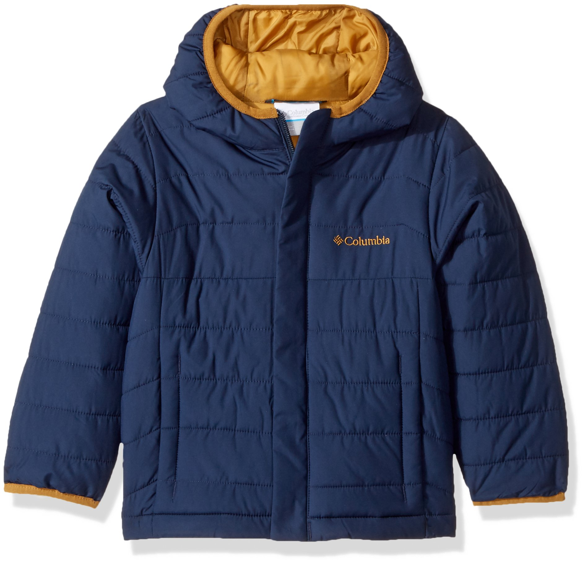 Columbia Boys' Little Powder Lite Puffer Jacket, Collegiate Navy, Small by Columbia