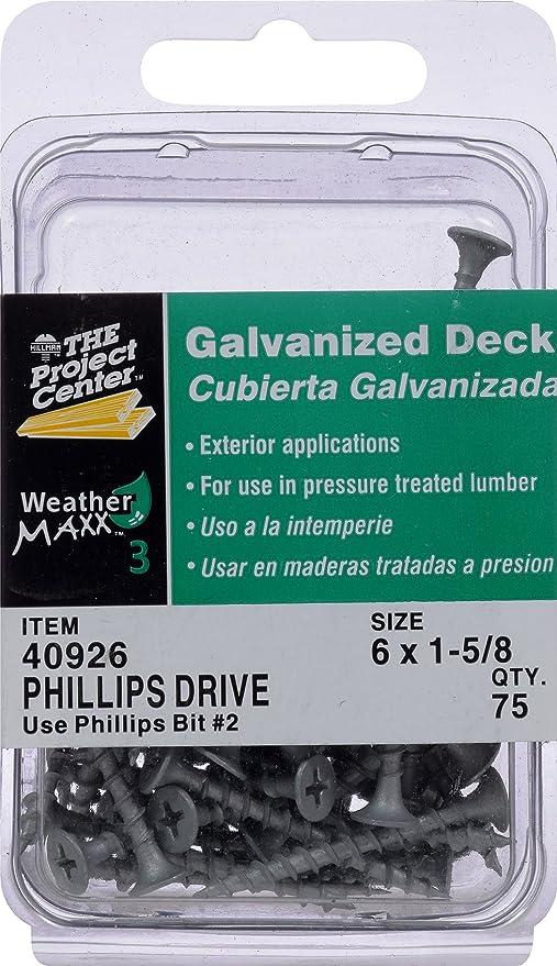 6 X 1-Inch 300 pack The Hillman Group Hillman 47685 Galvanized Phillips Drive Deck Screw