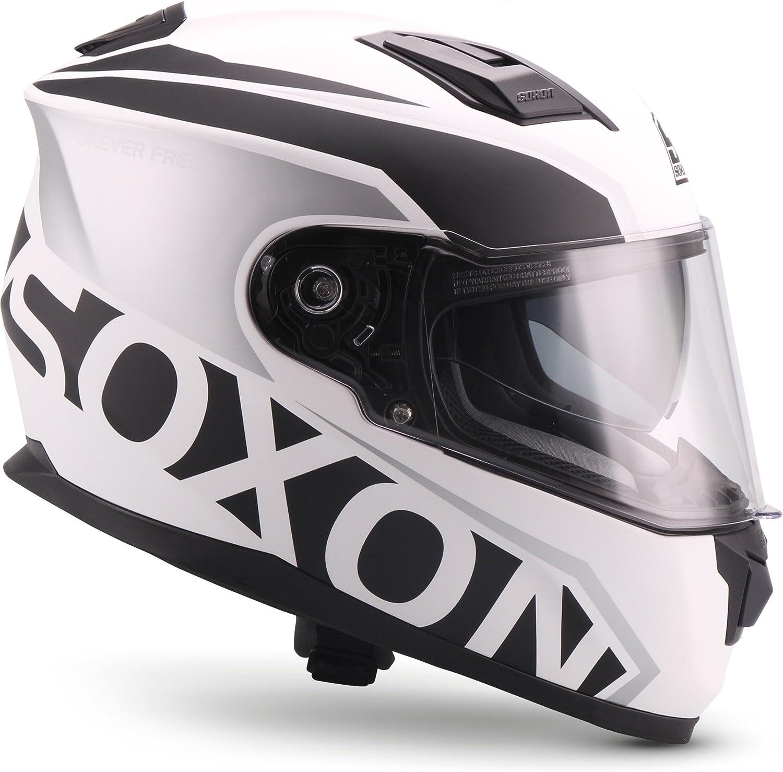 Casco integrale ECE con visiera parasole a sgancio rapido SOXON ST-1000