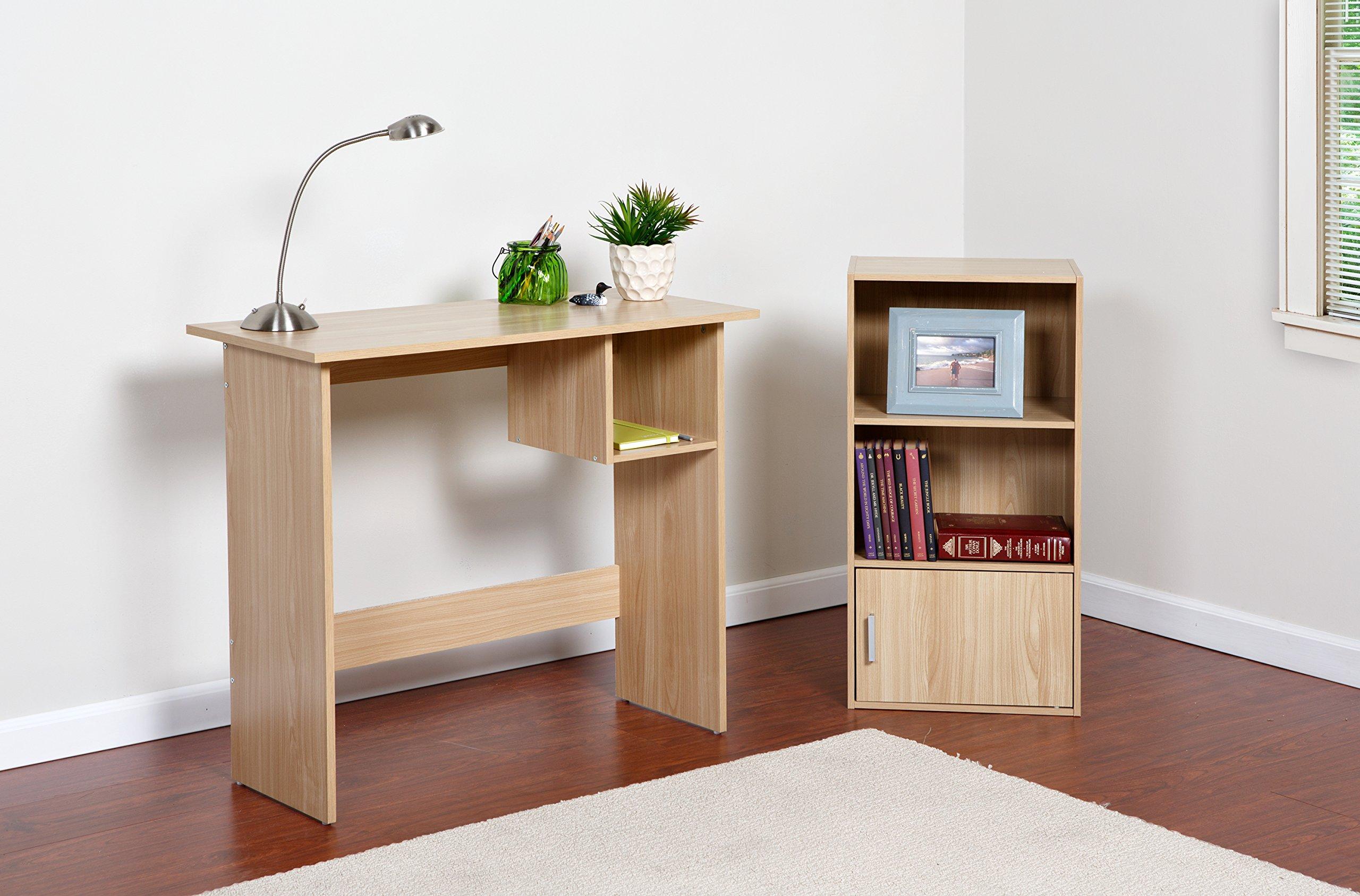 Comfort Products Small Modern Bookshelf, Oak