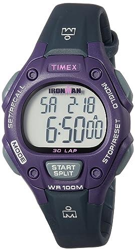 Reloj de pulsera digital Timex Ironman para mujer, con mecanismo de cuarzo, memoria para 30 vueltas, tamaño medio: Amazon.es: Relojes