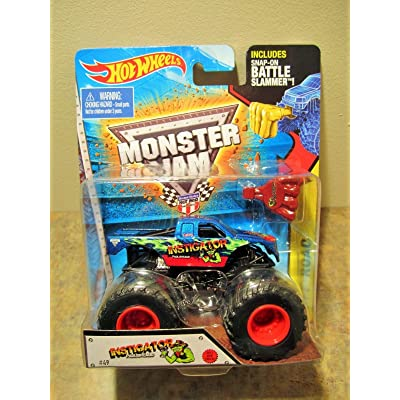 Hot Wheels Monster Jam 2015 Instigator #49 w/Battle Slammer 1:64 Scale: Toys & Games